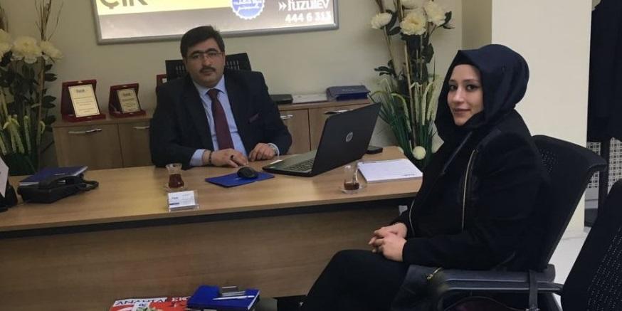 Asuman Oflaz'dan Muhammed Ali Karaman'a ziyaret