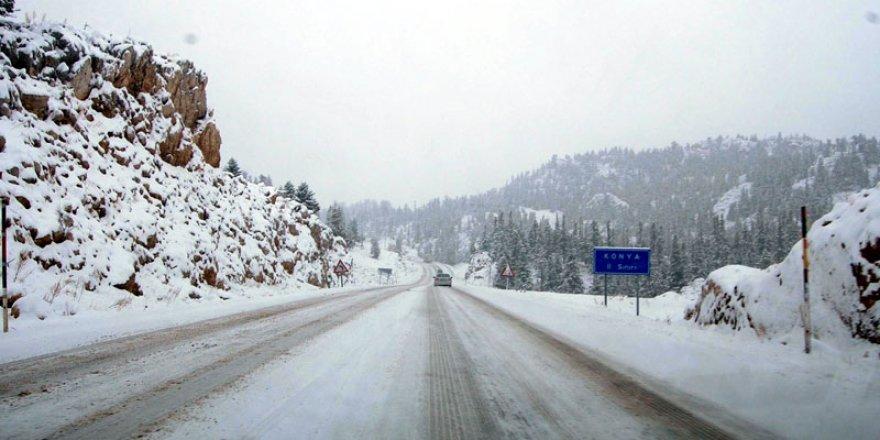 Konya'ya kar uyarısı