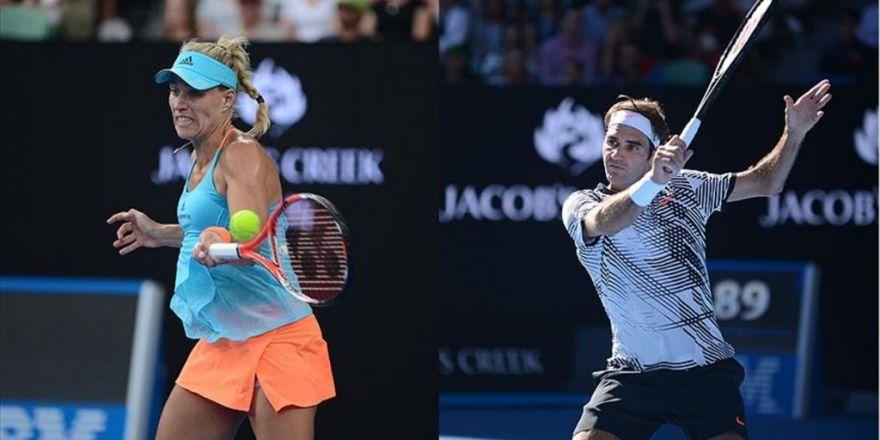 Avustralya Açık'ta Kerber Ve Federer 3. Tura Yükseldi