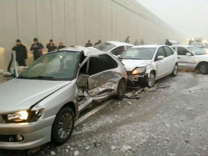 Konya'da 10 araç birbirine girdi: 2 yaralı