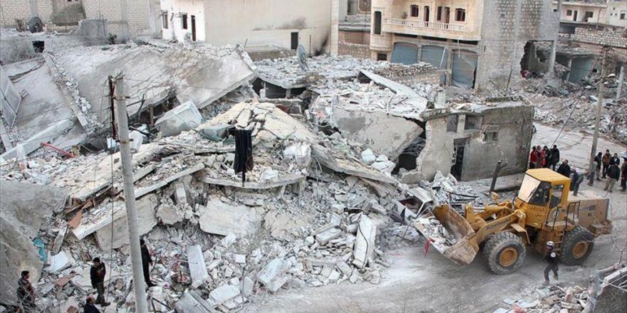 Suriye Rejimi Sivil Yerleşim Yerlerini Bombaladı