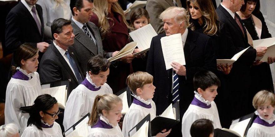 Abd Başkanı Trump, Ulusal Katedral'deki Dini Törene Katıldı