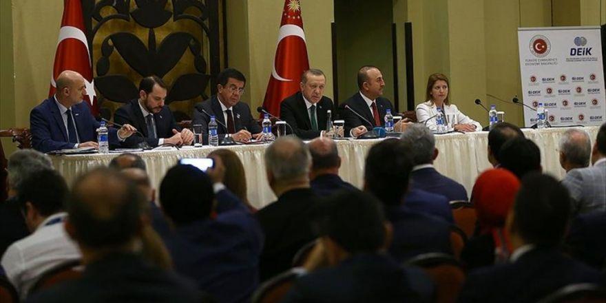 Cumhurbaşkanı Erdoğan, Tanzanya'da Türk İş Adamlarıyla Buluştu