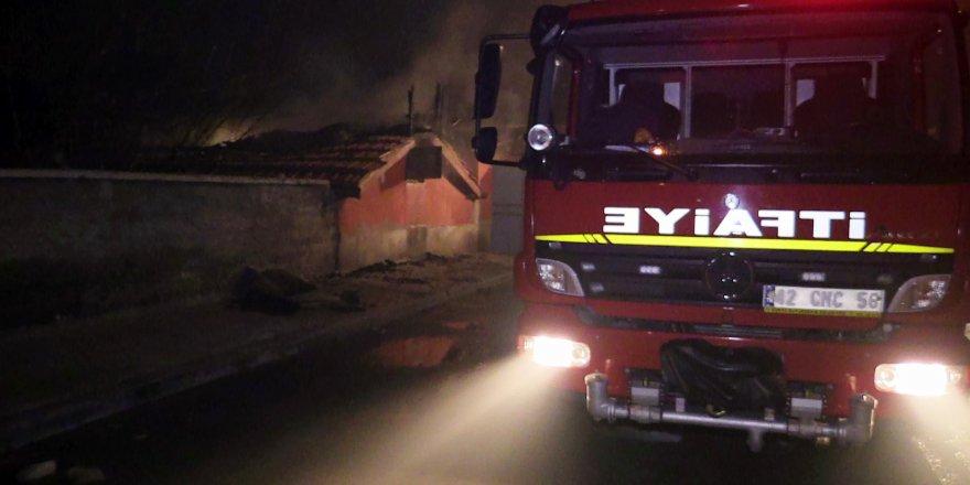 Konya'da samanlık yangını