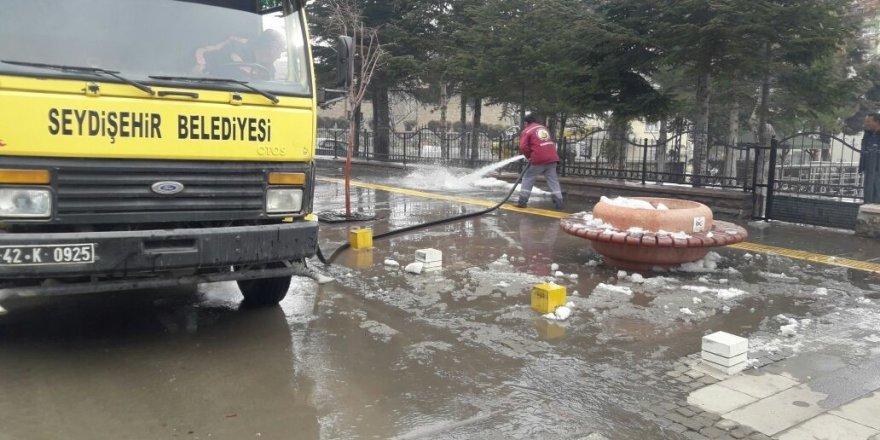 Seydişehir Belediyesinden kış temizliği