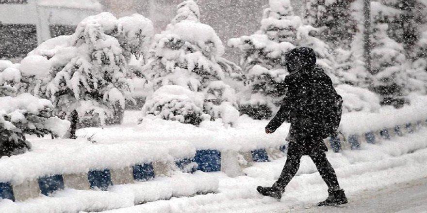 Konya'nın üç ilçesinde etkili kar yağışı