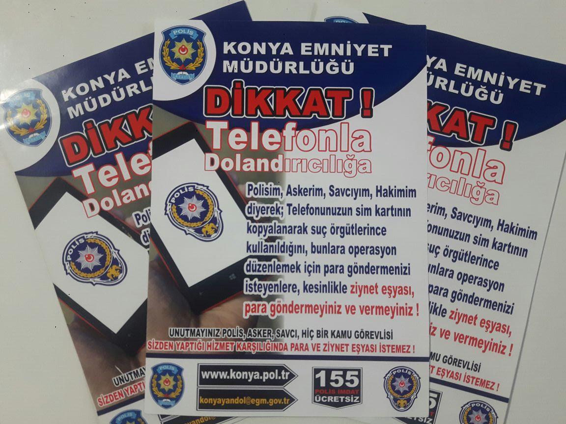 Polisin dağıttığı broşürler dolandırıcıları yakalattı