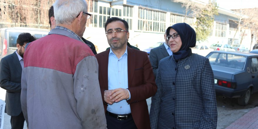 AK Parti heyeti Meram'da