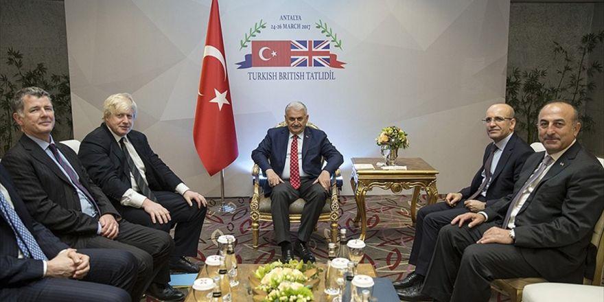 Başbakan Yıldırım'ın İngiltere Dışişleri Bakanı Johnson İle Görüştü