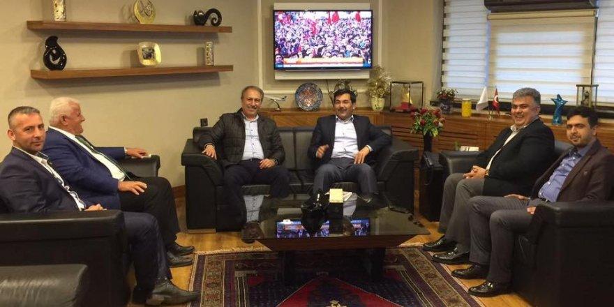 AK Partili Salih Koca'dan, Başkan Özgüven'e ziyaret