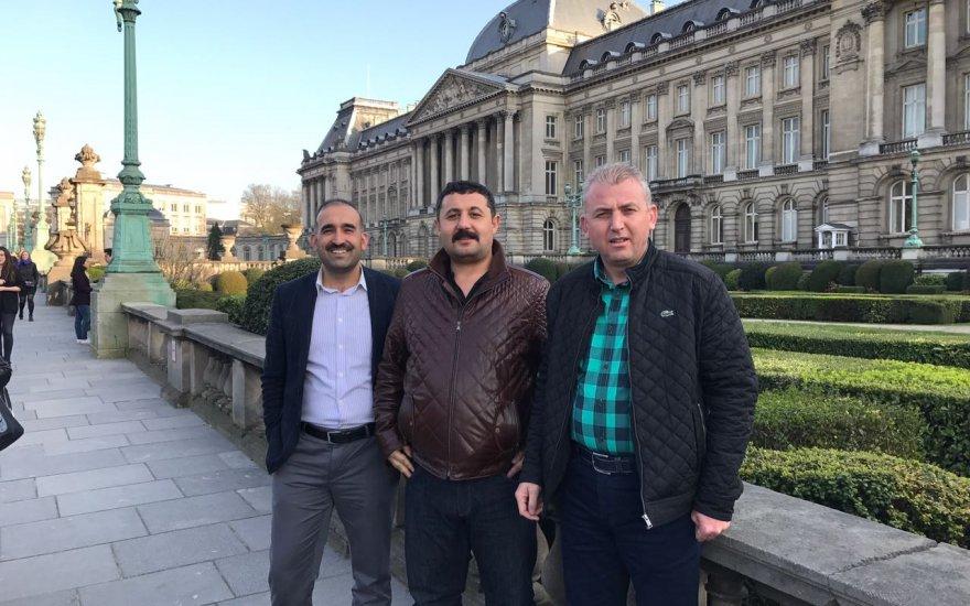 Mehmet Ayan,  Engin Ceran ve Nuh Bozkır Brüksel'de