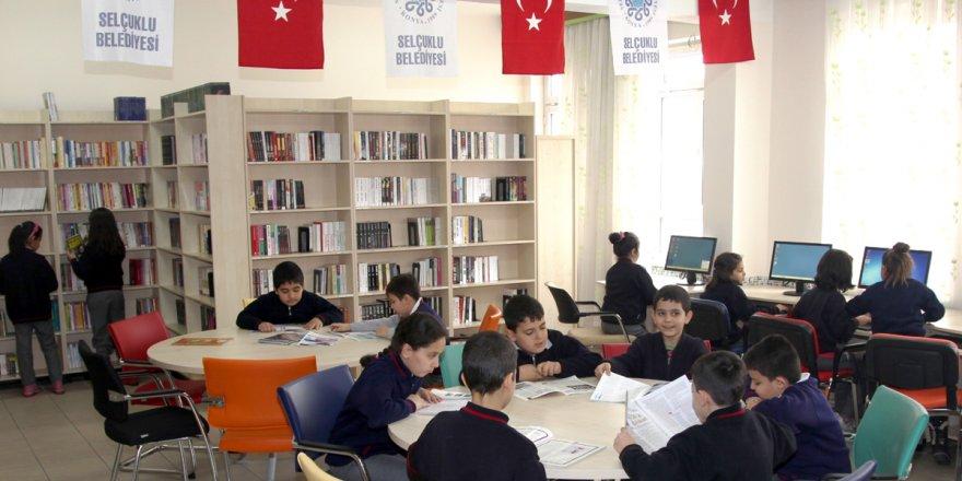 Selçuklu'ya 7 kütüphane daha