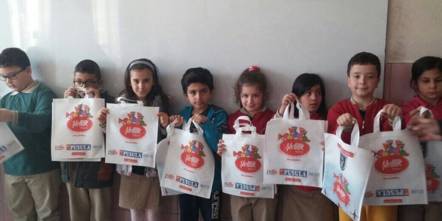 PUSULA'dan çocuklara şivlilik hediyesi
