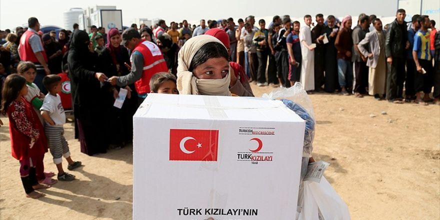 Türk Kızılayından Irak'ta 300 Sığınmacı Aileye Yardım