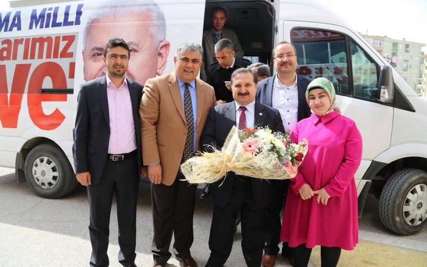 Milletvekili  Özdemir'den  Özgüven'e ziyaret