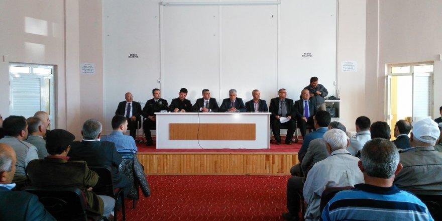 Bozkır'da halk toplantısı