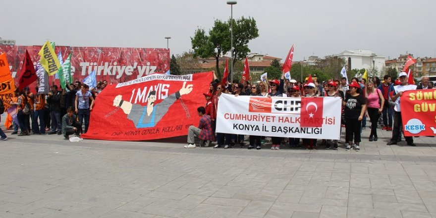 Konya'da 1 Mayıs kutlandı
