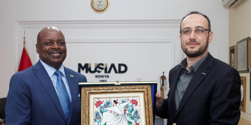 Ruanda Büyükelçisi Konya'da