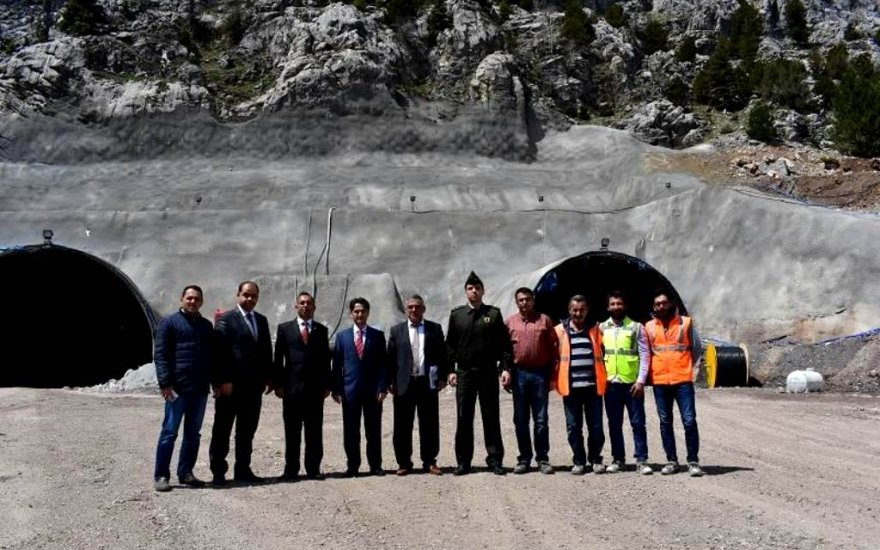 Kaymakam Erdoğan tünel çalışmalarını inceledi