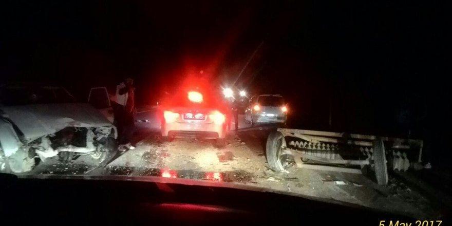 Konya'da maddi hasarlı kaza