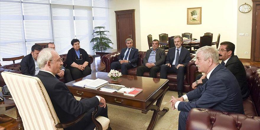 Kılıçdaroğlu Sendika Ve Birlik Başkanlarını Kabul Etti