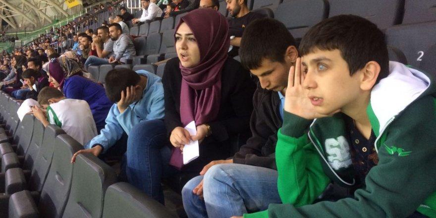 Görme engelliler Konyaspor maçında