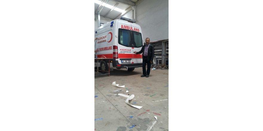 Küçükçalık Ambulans'a yeni araç