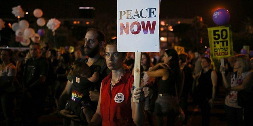 Tel Aviv'de İsrail İşgali Protesto Edildi