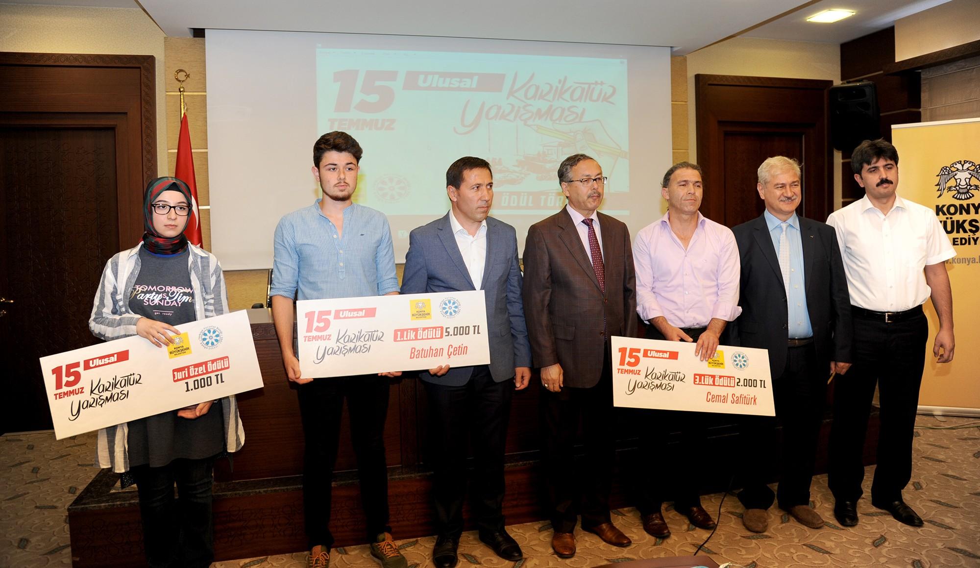 15 Temmuz konulu karikatür yarışmasında ödüller verildi