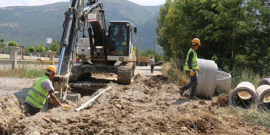 Konya Büyükşehir'den Akşehir'e yeni kanalizasyon hattı