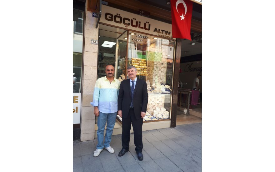 Başkan Akyürek İsmail Karagöz ile