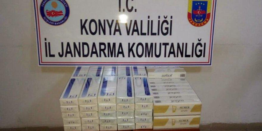 Yolcu otobüsünde 740 paket kaçak sigara ele geçirildi