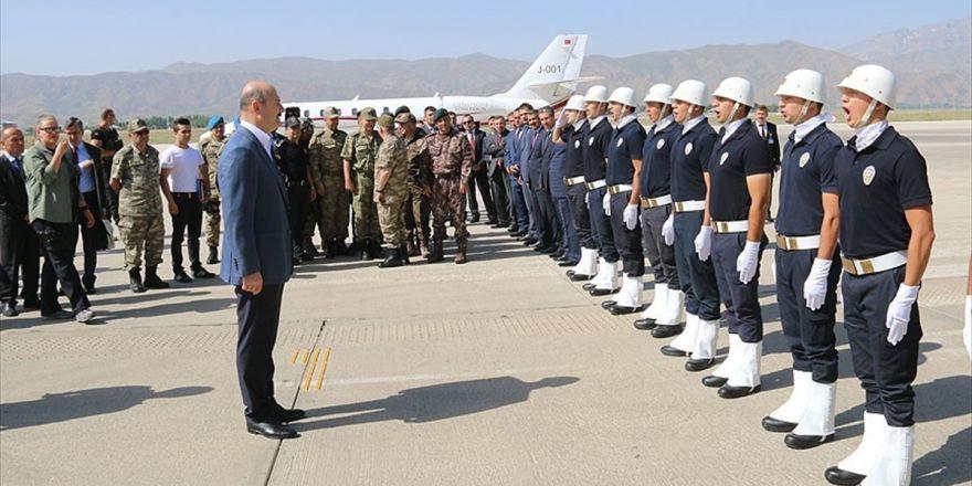 İçişleri Bakanı Soylu Çukurca'da Güvenlik Yolunu İnceledi