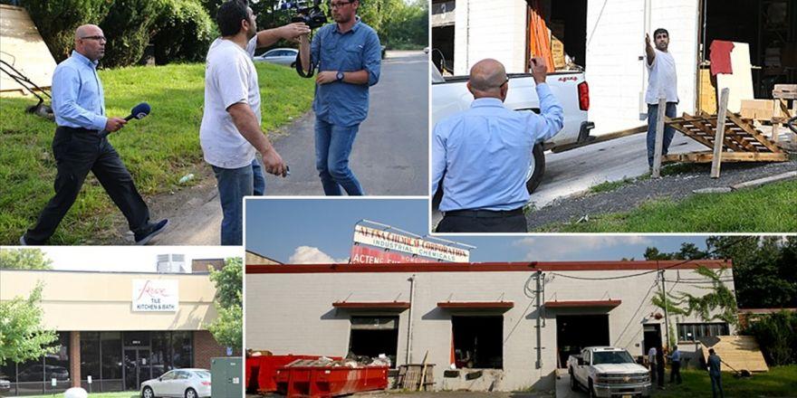 Fetö'nün Firari İş Adamlarının Abd'deki İş Yerleri Aa Tarafından Görüntülendi