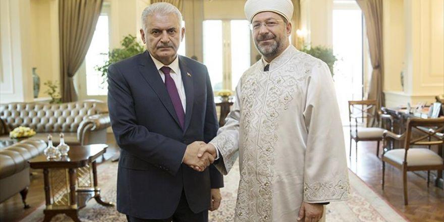 Başbakan Yıldırım, Diyanet İşleri Başkanı Erbaş'ı Kabul Etti