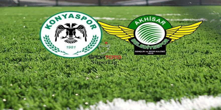 Konyaspor ve Akhisarspor sahaya hangi kadroyla çıkıyor?