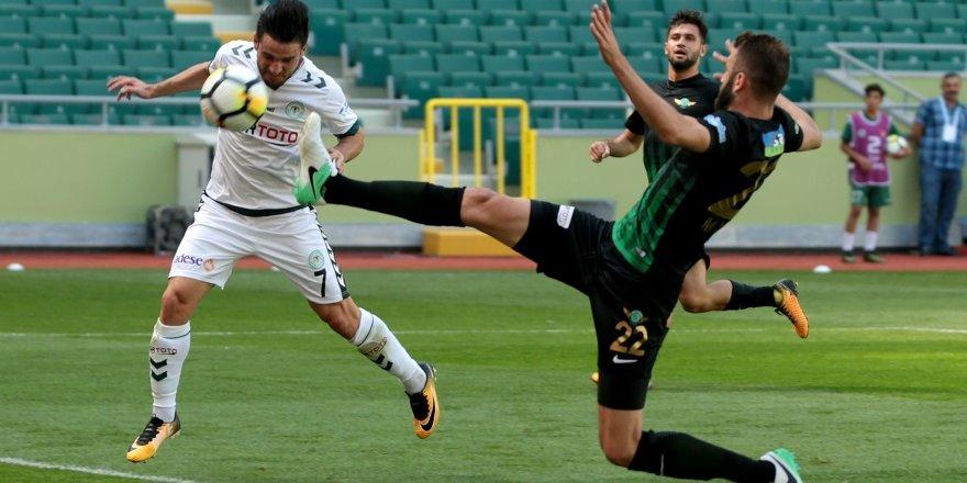 Süper Lig: Konyaspor: 1 - Akhisarspor: 0 (İlk Yarı)