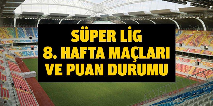 Süper Lig 8. Hafta Maçları ve Puan Durumu