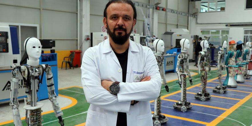 Milli insansı robotun seri üretimine Konya'da başlandı