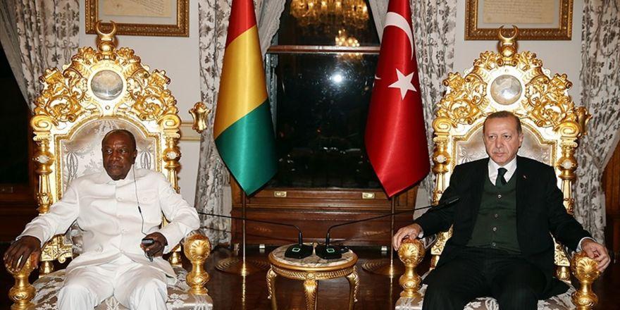 Cumhurbaşkanı Erdoğan, Gine Cumhurbaşkanı Conde İle Görüştü