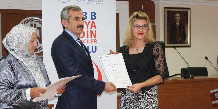 Başarılı kadın girişimcilere sertifika