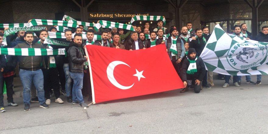 Konyaspor taraftarı Salzburg'da