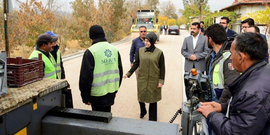 Başkan Toru, asfaltlama çalışmalarını inceledi