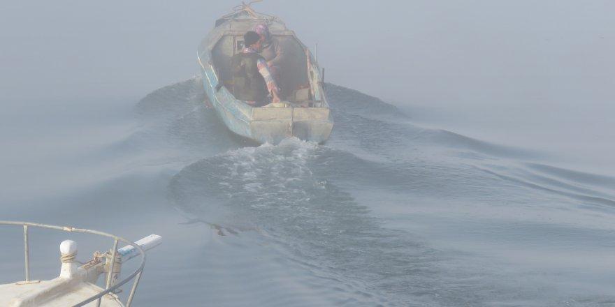 Beyşehir Gölü sis altında