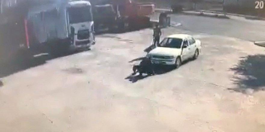 Şaka gibi kaza kamerada