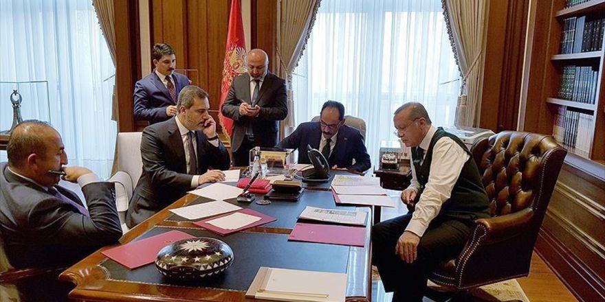 Cumhurbaşkanı Erdoğan İle Trump Telefonda Görüştü