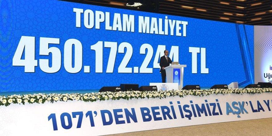 Selçuklu'ya 450 milyon 172 bin 244 TL'lik yatırım