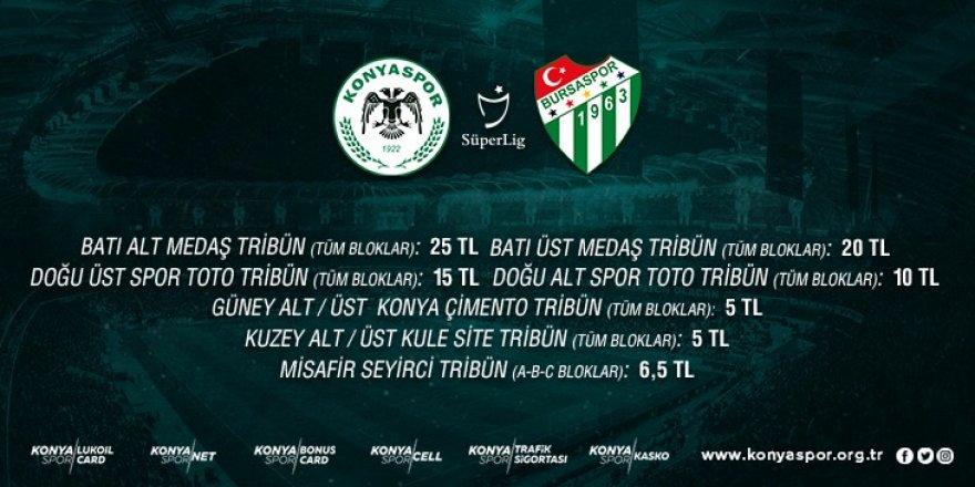 Konyaspor-Bursaspor Maçı Öğretmen ve Öğrencilere yüzde 50 indirimli