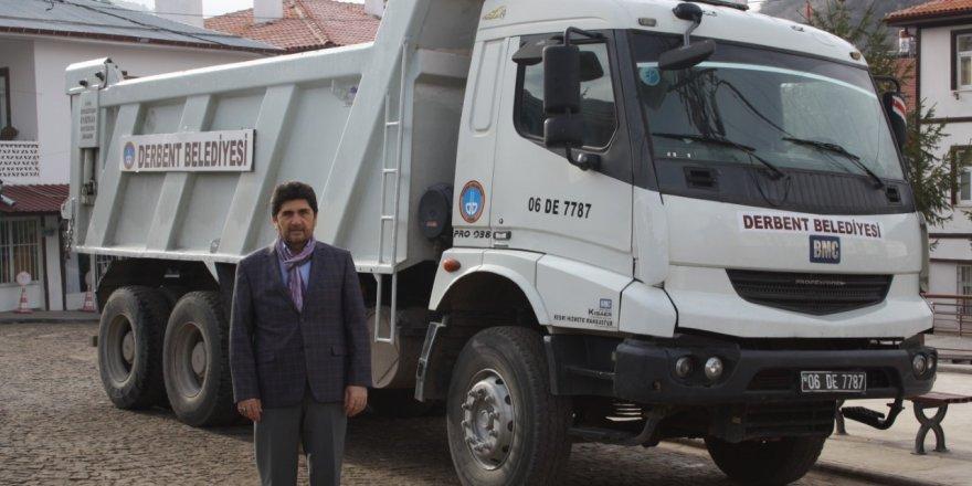 Keçiören Belediyesi'nden Derbent'e kamyon desteği