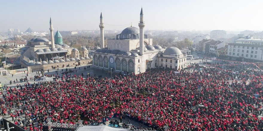 ABD'nin kararı Konya'da protesto edildi